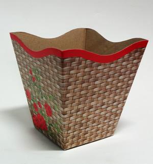 cestinha com floresa